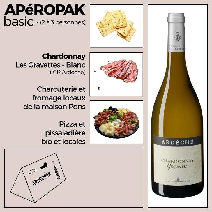 Wine Connexion - Apéropak - Chardonnais Les Gravettes - Ardèche