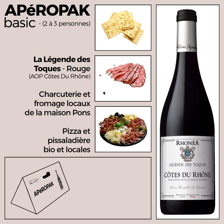 Wine Connexion - Apéropak - Légende Des Toques rouge - Côtes Du Rhône