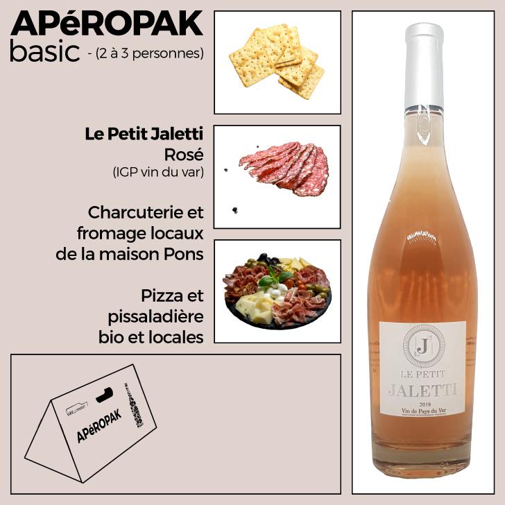 Wine Connexion - Apéropak - Jaletti rosé - IGP vins du Var