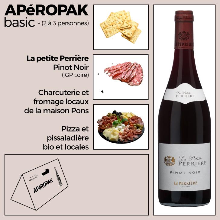 Wine Connexion - Apéropak - La Petite Perrière - Pinot Noir - AOP Loire