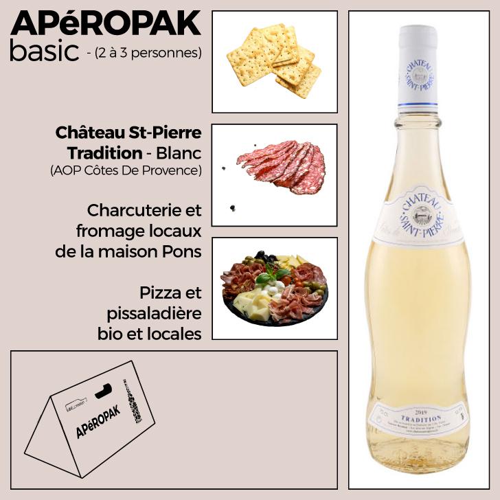 Wine Connexion - Apéropak - Château St Pierre Tradition blanc - Côtes De Provence