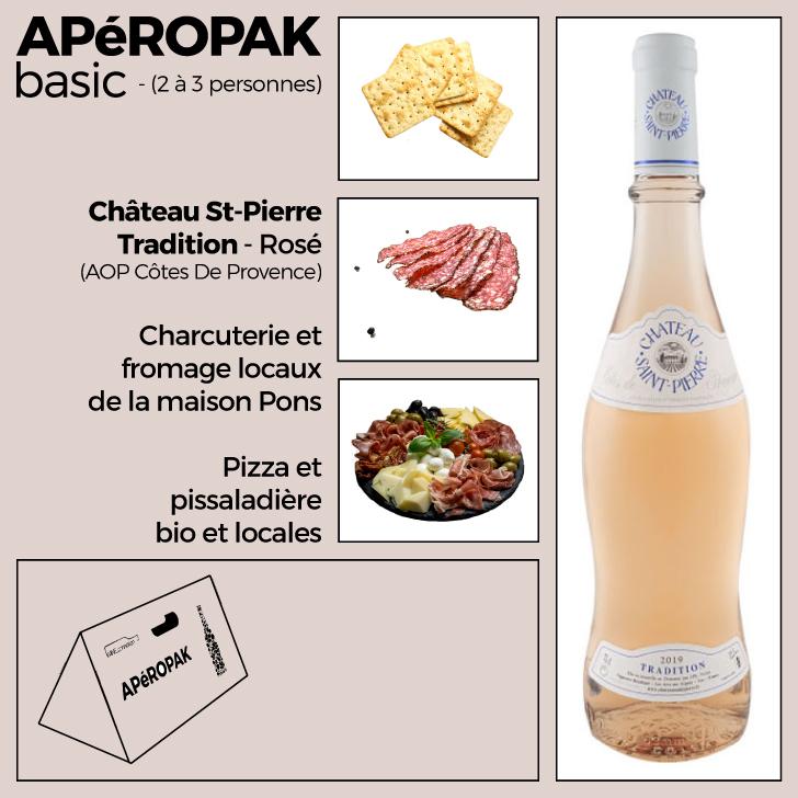 Wine Connexion - Apéropak - Château St Pierre Tradition rosé - Côtes De Provence