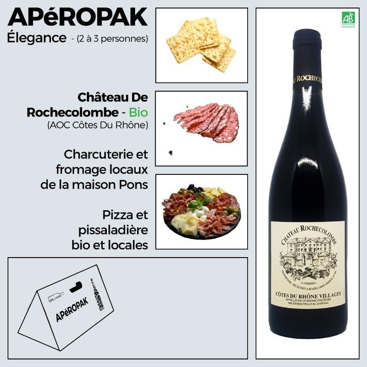 Wine Connexion - Apéropak - Château Rochecolombe rouge - Côtes Du Rhône