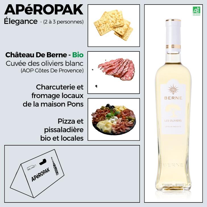 Wine Connexion - Apéropak - Château De Berne cuvée Les Oliviers blanc bio - Côtes De Provence