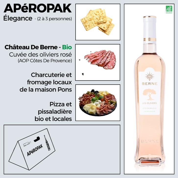 Wine Connexion - Apéropak - Château De Berne cuvée Les Oliviers rosé bio - Côtes De Provence