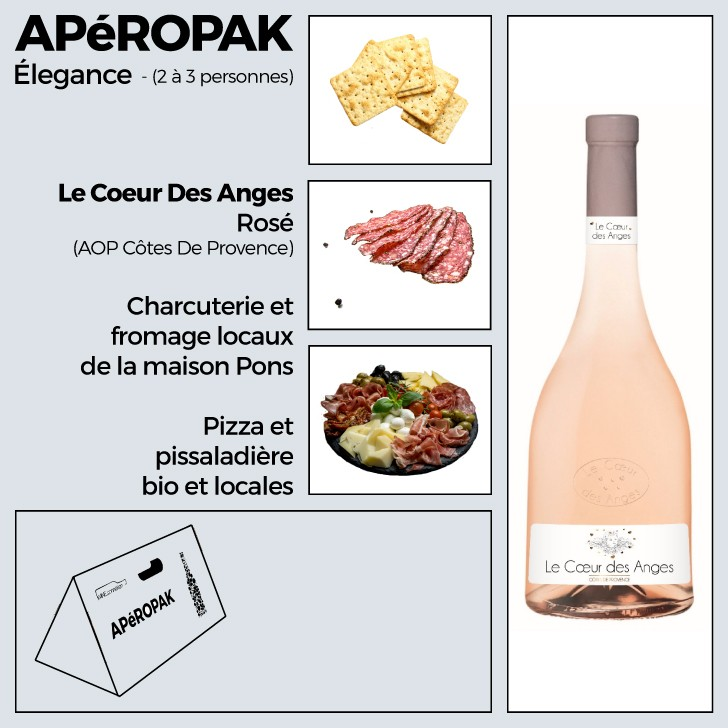 Wine Connexion - Apéropak - Coeur Des Anges rosé - Côtes De Provence