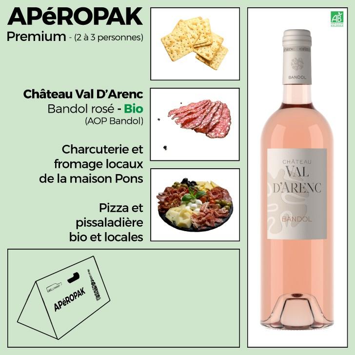 Wine Connexion - Apéropak - Château Val D'Arenc Bandol rosé